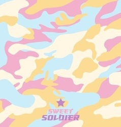Camouflage fabric pattern shape vector