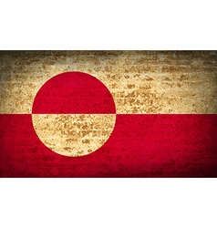 Flags greenland with dirty paper texture vector