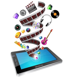 tablet multimedia vector image