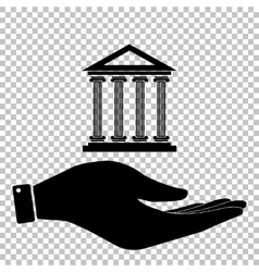 Historical building flat style icon vector