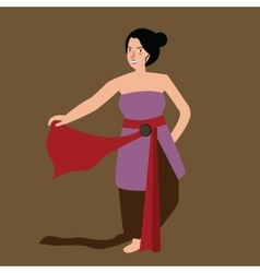 Javanese java woman traditional dance performance vector