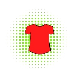 Men t-shirt icon comics style vector