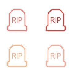 Assembly sticker bright headstone on a white vector