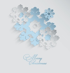 Christmas 3d snowflakes vector