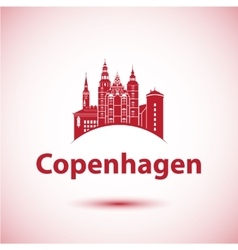 Copenhagen denmark nordic capital city skyline vector