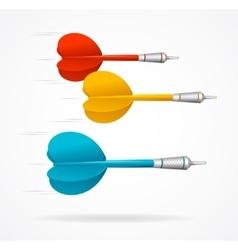 Darts Fly vector image vector image