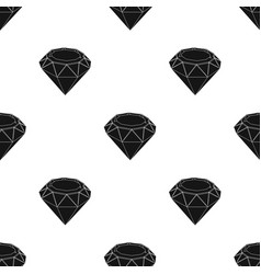 Diamond icon in black style isolated on white vector