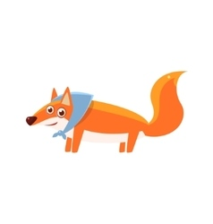Fox Wearing Headscarf vector image vector image