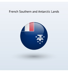 French southern and antarctic lands round flag vector
