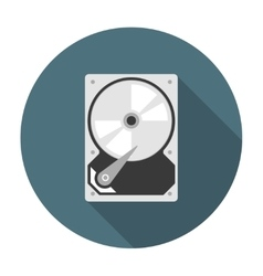 Hard drive icon flat vector