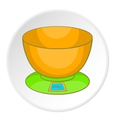 Kitchen scales icon cartoon style vector image