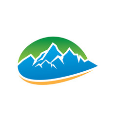 mountain icon logo image vector image
