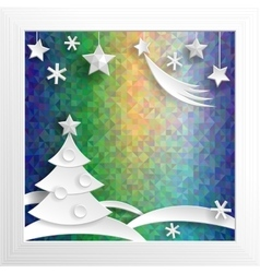 New year decoration paper x-mas on psychodelic vector