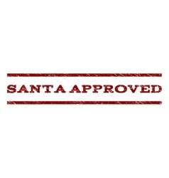 Santa approved watermark stamp vector