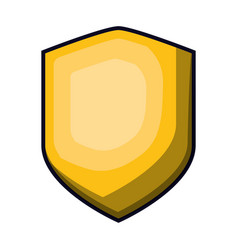 shield in yellow color with brightness vector image vector image