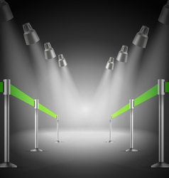 The shined green way entrance vector image vector image