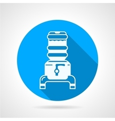 Water cooler jug blue round icon vector