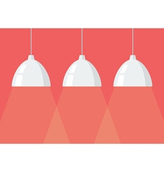 White pendant lamps vector