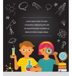 Young scientist - education research and school vector image vector image