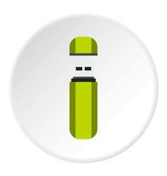 Usb flash drive icon flat style vector