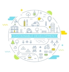 Sustainable development and sustainable living vector