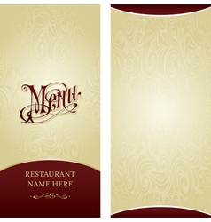 Menu design template vector image