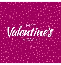 Pink happy valentines day card hearts background vector