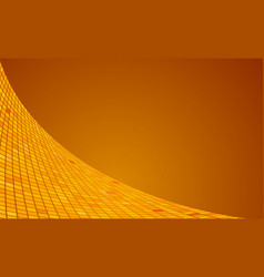 Orange square wave motion background vector