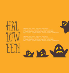 Greeting card for halloween style vector