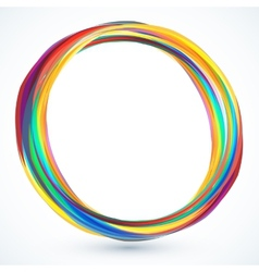 Colorful round 3d frame vector image