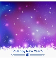 Winter seamless background happy new year vector