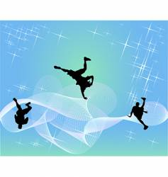 Hip-hop dancers vector
