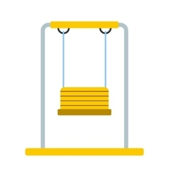 Playground swing icon vector