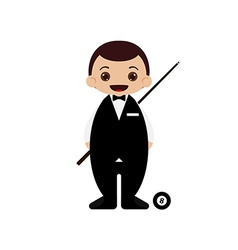 Cartoon snooker player vector image