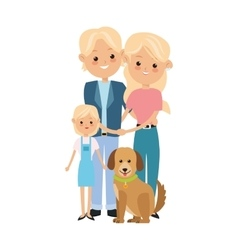 Parents and daughter icon family design vector