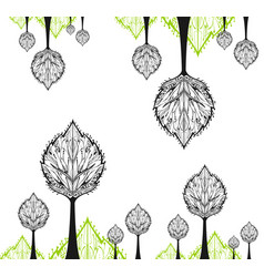 abstract drawing tree of white background vector image