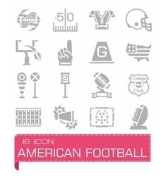 American football icon set vector image