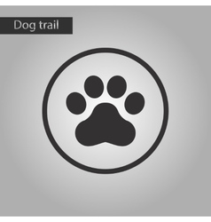 Black and white style icon dog trail vector