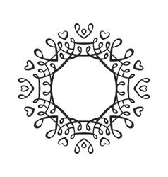 Black luxury monogram template vector image
