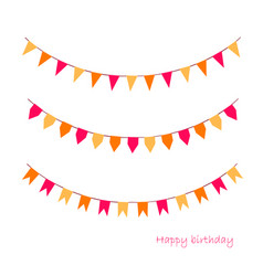 colorful garlands on white vector image