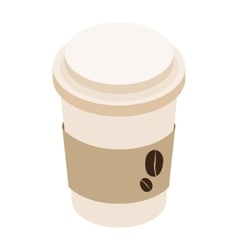 Cup of coffee isometric 3d icon vector image vector image