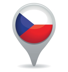 czech republic flag pointer vector image vector image
