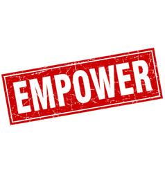 Empower square stamp vector