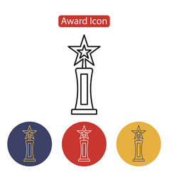 film award for the best film in the form of stars vector image