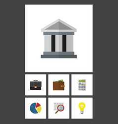 Flat icon incoming set of billfold bank vector