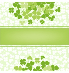 Flower background with clover shamrocks vector
