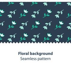 Green flowers fancy backdrop pattern vector