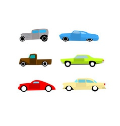 Hot rod color cars vector