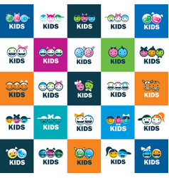 Icon kids vector