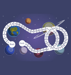 kids science and space board game vector image vector image